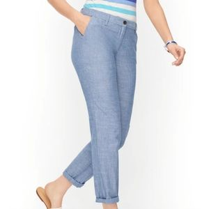 Talbots Relaxed Blue Chinos Sz 4 NWT